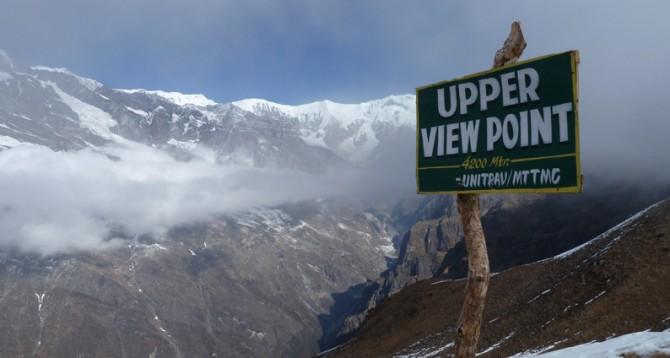upper view point during mardi himal trek