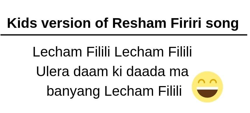 Kids version of Resham Firiri song with lyrics