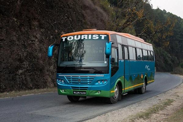 kathmandu to pokhara by Tourist Bus