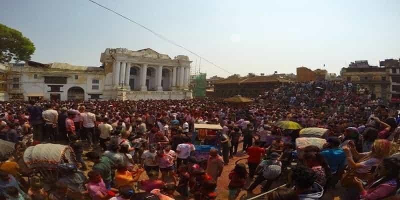 Holi celebration Basantapur