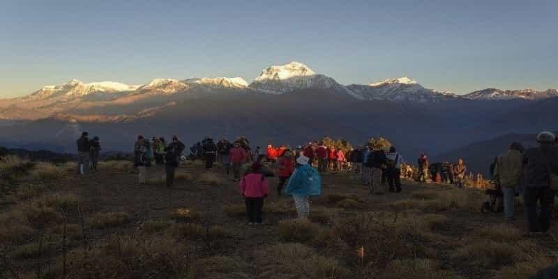 Dhaulagiri Sunrise view