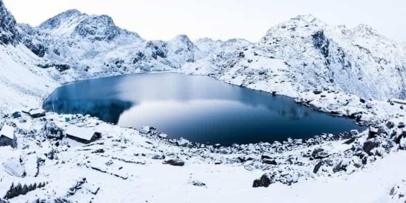 Gosaikunda Lake Frozen