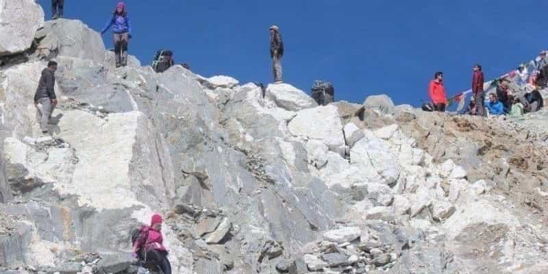 Three Pass trekking in Everest Nepal