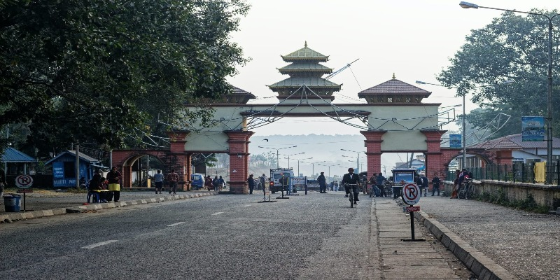 Nepal from India via the Panitanki border