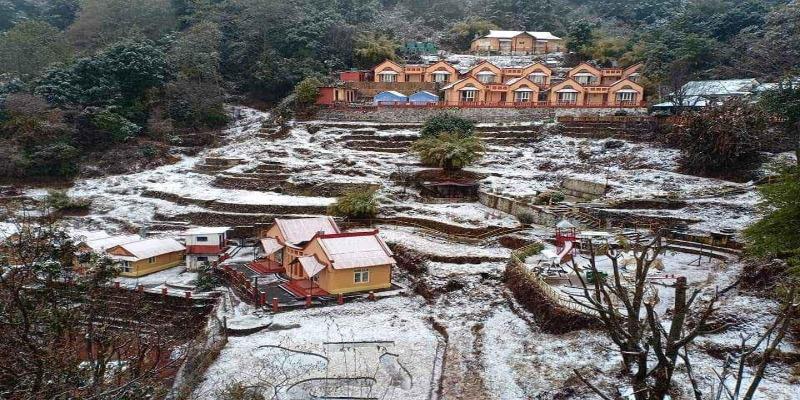 snowfall in Daman