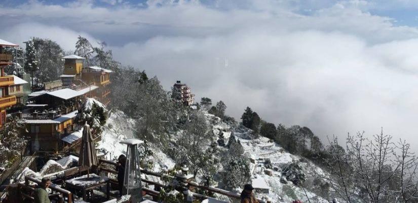 snowfall in Nagarkot